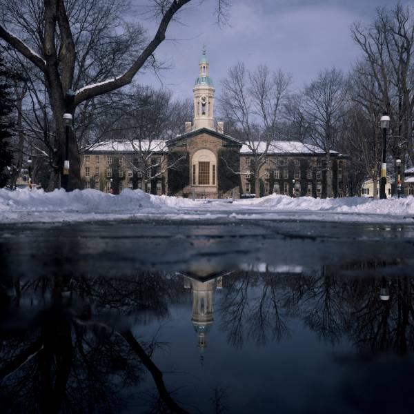 Nassau Hall in Winter