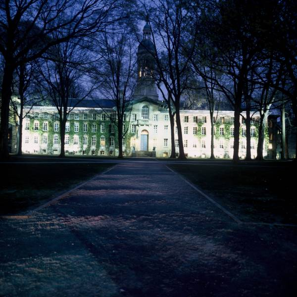 Nassau Hall Front, Evening